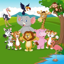 Laeacco Safari Baby Shower Portrait Scene Party Photographic Backdrops Customized Photography Backgrounds For Photo Studio
