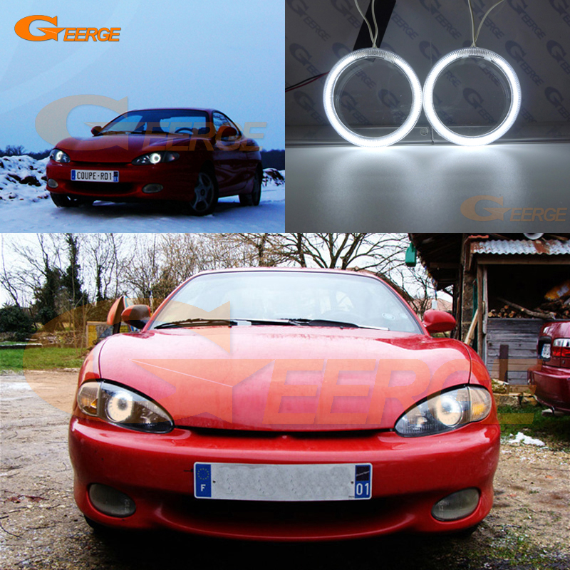 For Hyundai Tiburon Coupe RD1 J2 F2 Excellent Angel Eyes Ultra bright headlight illumination CCFL Angel Eyes kit Halo Ring pu line style buckle high heel womens glitter sandals page 6