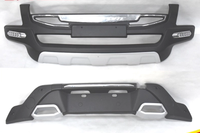 ABS Front+Rear Bumpers Car Accessories Car Bumper Protector Guard Skid Plate fit for 2016-2017 Ford Ecosport Car styling decoration protective guard bar for car front and rear bumper white 4 pcs