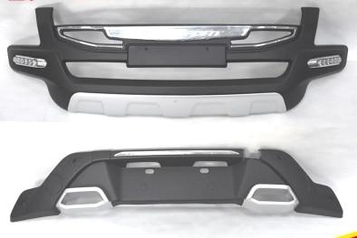 ABS передняя+задний бамперы Автомобильные аксессуары Автомобильные бампера Защитная картера, пригодный для 2016-2017 автомобиль Форда ecosport стайлинга