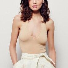 Women V-neck Halter Cami Tops Girl's Sexy Deep V neck Halter Tank Tops Brand Design Casual Camisole