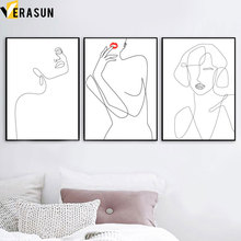 Abstract Line Sexy Women Body Art Modern Wall Canvas Painting Nordic Posters And Prints Pictures For Living Room Decor