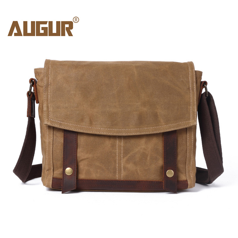 AUGUR Casual Messenger Bags Designer Brands Canvas Shoulder Crossbody Bag Vintage Handbags Satchel For Teenagers School Bags цена 2017