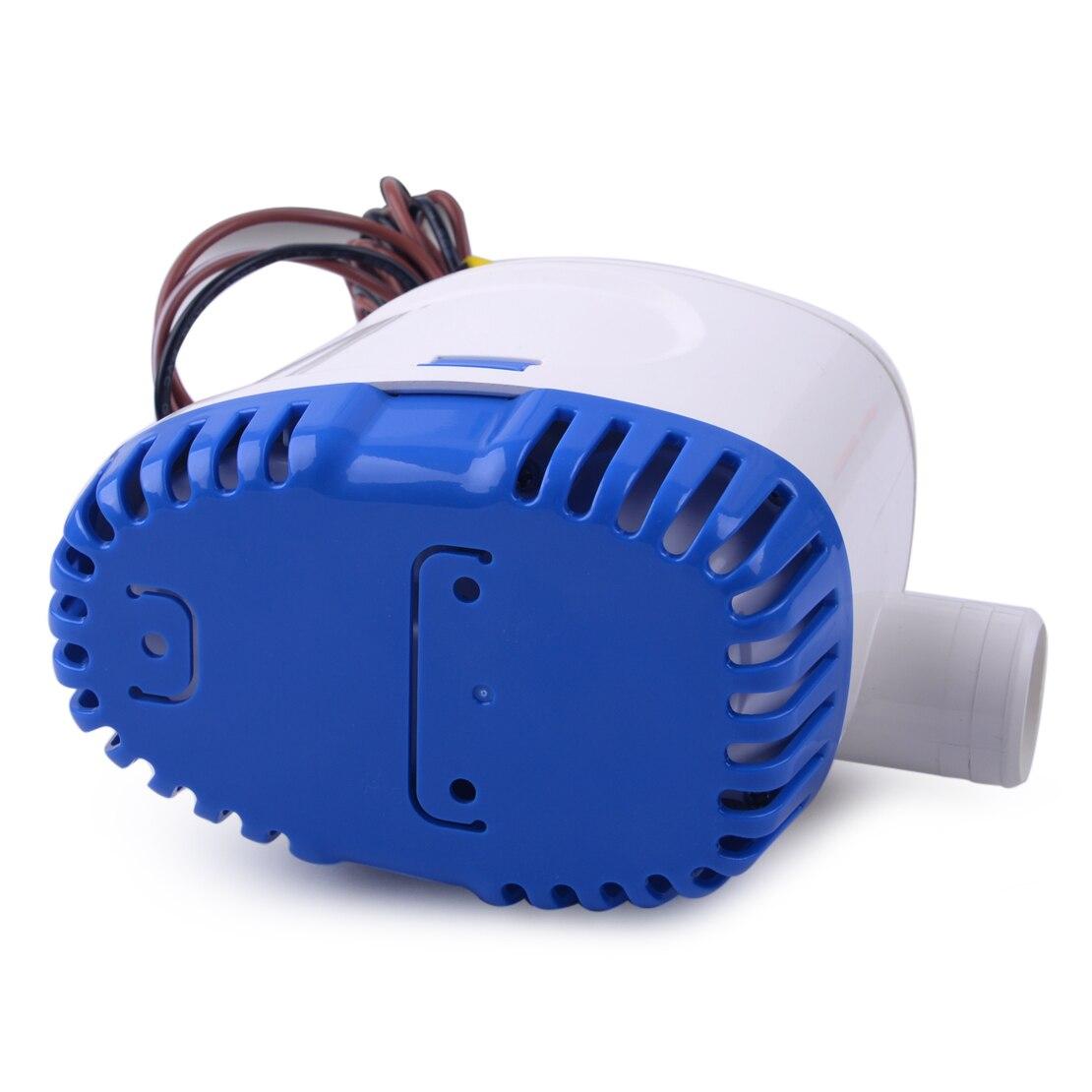 Pompe à eau automatique Submersible automatique de cale de CITALL 12 V 1100GPH 3.2A avec le commutateur de flotteur pour les coques marines de bateau/réservoirs d'appât de cale - 2