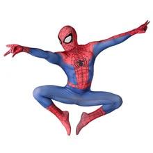 Костюм Человека-паука для выпускного вечера, костюм Человека-паука для взрослых, косплей костюм на Хэллоуин, крутой супергерой, спандекс, зентай костюм