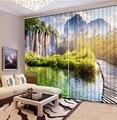 Пейзаж шторы пейзаж красота цифровая фотопечать затемненные 3D шторы для гостиной постельные принадлежности комнаты отеля