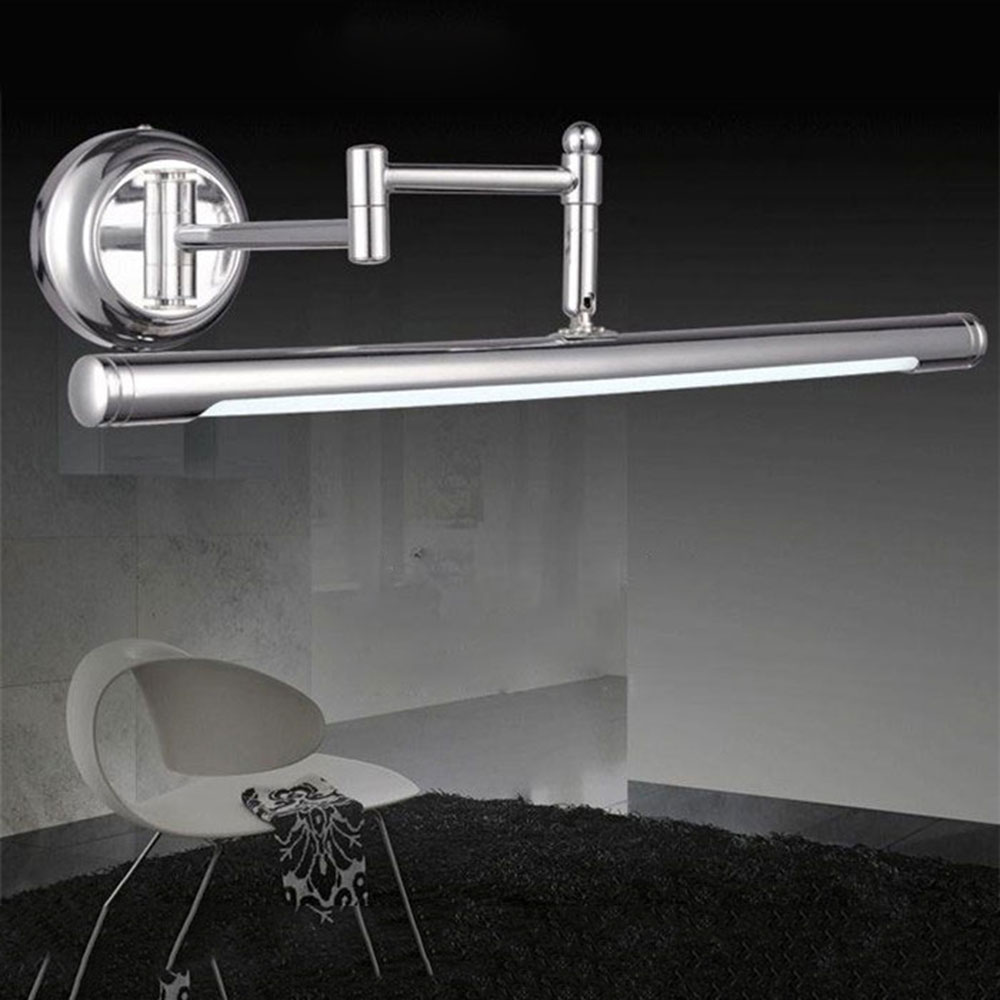 Novelty Lighting Modern Silver Smd Led Front Mirror Light Bathroom Cabinet  Dressing Table Kitchen Lamps Adjusted