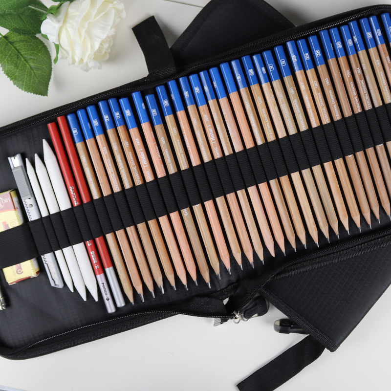 Multifunctional Premium Sketch pencil Art set with folding bag Professional Sketch Drawing Tools For Write Painting Art Supplies