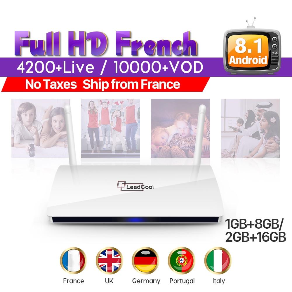 Leadcool IP TV France Box Android RK3229 Smart Media Player 1 Year Subtv Code IPTV Europe