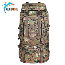 Hot 75L large Military Tactical Backpack Hiking Backpack Mountaineering Molle Men Waterproof Mountain Bag Army Solid Rucksack