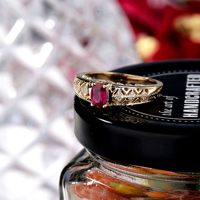 Vintage Natural Ruby Golden Ring 3
