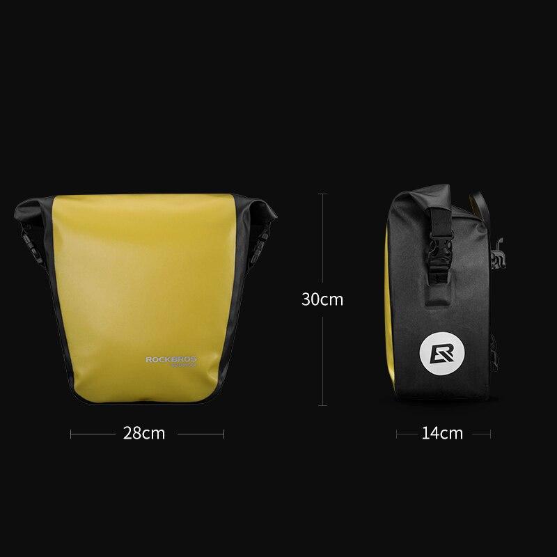 ROCKBROS sac de vélo étanche 10-18L sac de vélo Portable sacoche arrière Rack queue siège coffre Pack vélo vtt sac accessoires de vélo - 3