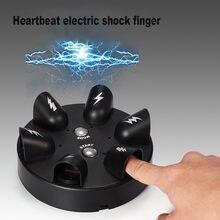 Detector de mentira elétrico, engraçado, choque, jogo de roleta, recarregado