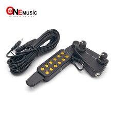 12 звуковых отверстий для акустической классической гитары звукосниматель Тон регулятор громкости с кабелем, черный