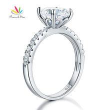 Павлин звезда стерлингового серебра 925 люкс Юбилей Обручение кольцо 2 карат ювелирные изделия CFR8212