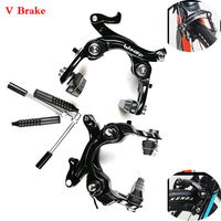 Road Bicycle V Brake Racing Road Bike Dual Pivot V Brake Double Lock Aluminum Side Pull Cali Per Front And Rear With Brake Pads
