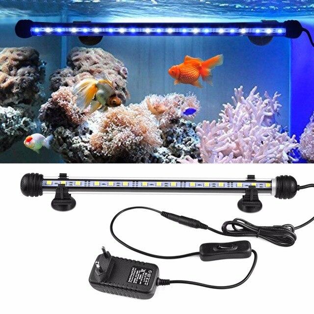 AIMENGTE 110V 220 220v 水族館の水槽ランプ RGB LED ハードストリップバー照明 19 センチメートル 29 センチメートル 39 センチメートル 49 センチメートル IP68 防水装飾ランプ