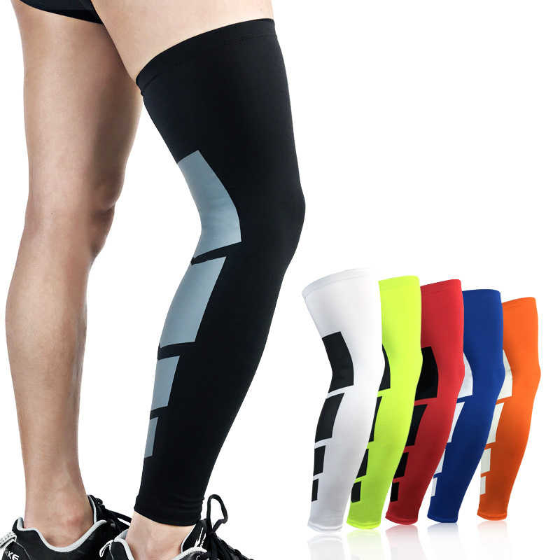 1PC Compression Sleeves Knee Brace Super Elastic Lycra Basketball Leg Warmers Calf Thigh Soccer Volleyball Cycling Calf Support