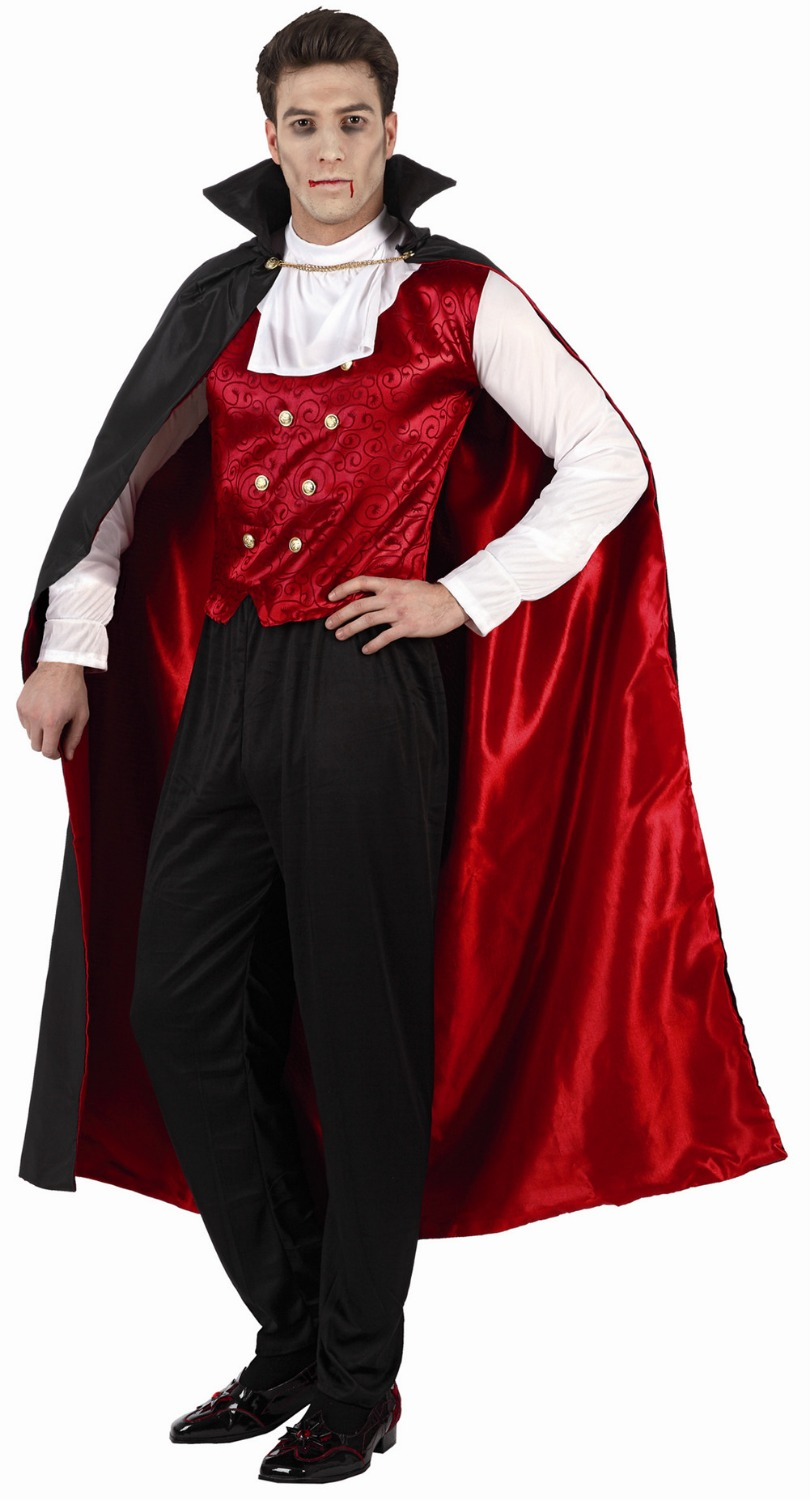 Wholesale - Hot sale  New Style Halloween Cosplay Costume Party Clothing for adult man knitted costume set with cloak Black