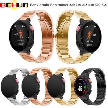 להקת יד מתכת נירוסטה שעונים בנד רצועת צמיד עבור Garmin Forerunner 220 230 235 630 620 735 רצועת השעון זרוק חינם
