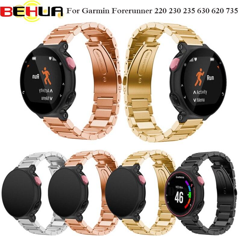 Wrist band Metal Stainless Steel Watch Band Strap bracelet For Garmin Forerunner 220 230 235 630 620 735 watchband Drop shipping все цены