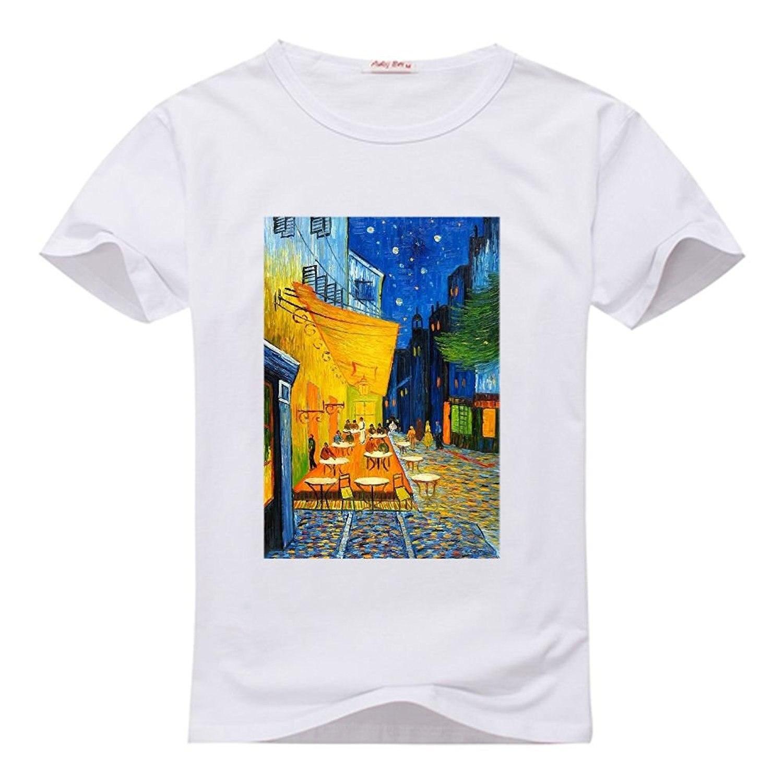 ✅Algodão T-Shirt dos homens com vincent van gogh - a19 6bf941b62ecf7