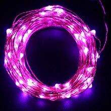 10 м 100 LED USB работает водонепроницаемый Медный провод строки для свадьбы, дома, Спальня, патио, сад и партия, украшение праздника