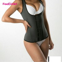 New Latex Waist Cincher Vest Chest Binder Body Shaper For Women Corset Slimming Waist Trainer Plus