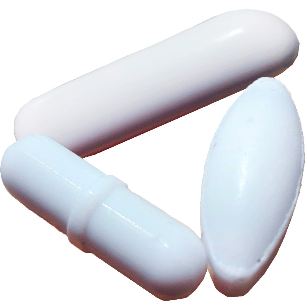 Big Size 3 Piece  Free Shipping , Magnetic Stirrer Mixer Stir Bars White Color , Diffent  Size Diffent Shap !