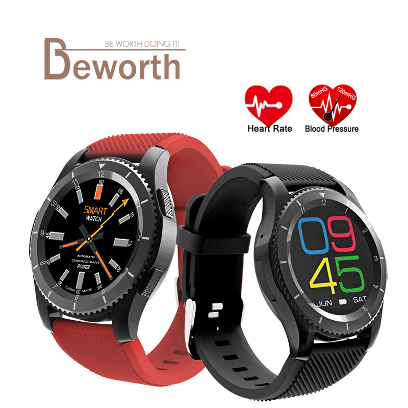 G8 Heart Rate Monitor Smart Watch <font><b>Phone</b></font> SIM Card Call Message Reminder <font><b>Bluetooth</b></font> 4.0 MTK2502 Compatible for Android IOS