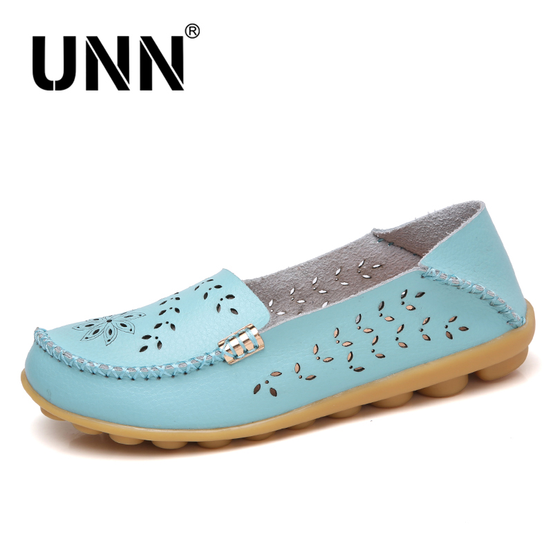 UNN Genuine Leather Shoes Women Ballet Flats Summer Loafers Flat Shoes Ladies Moccasins Slip On Casual Ballerina Size 4.5-9.5 summer genuine leather women flats shoes female casual flat slip on loafers plus size ladies red shoes black women s nurse shoes