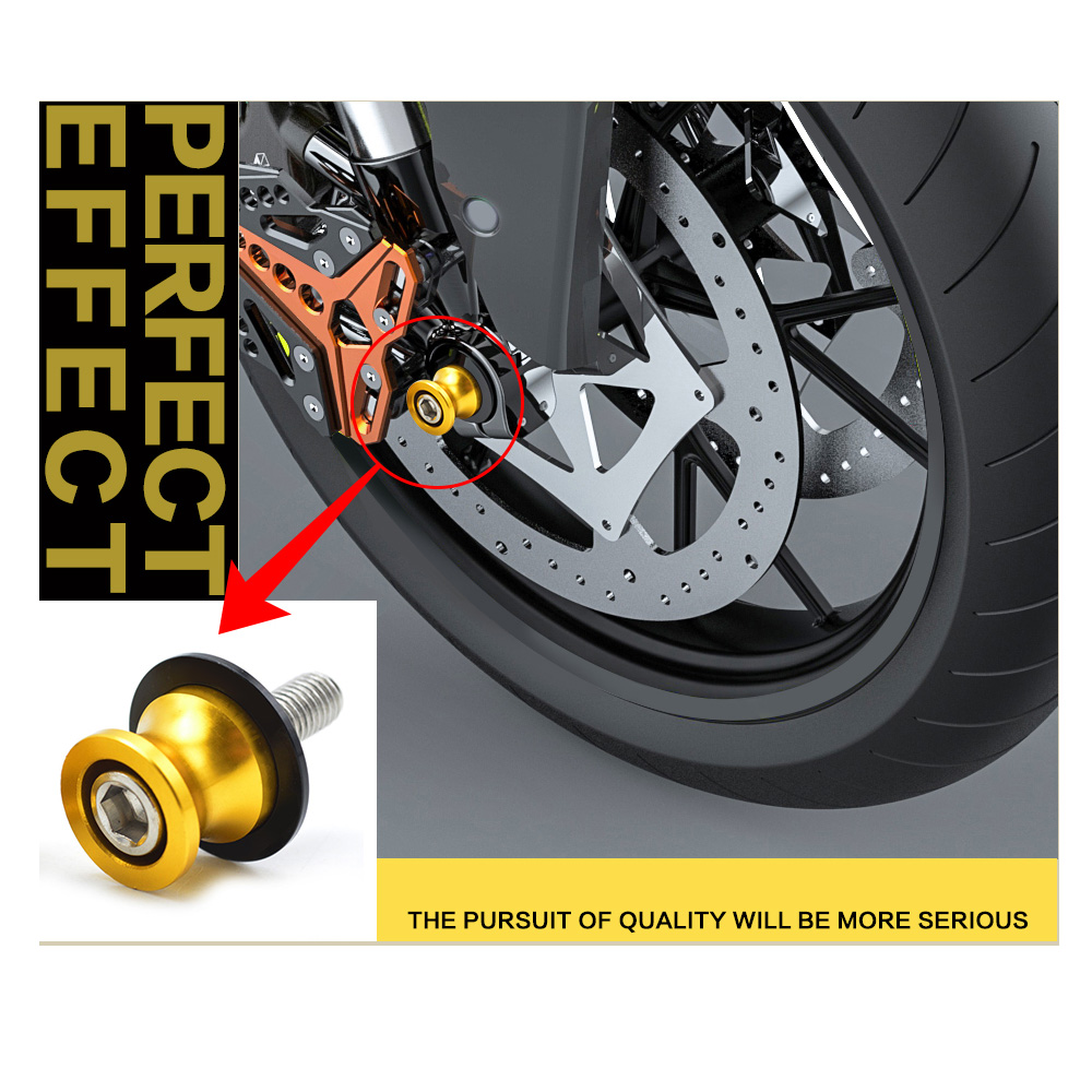 For Honda CBR 600 f4i f4 f3 f2 250 1100xx CNC Aluminum Motorcycle Accessories Swingarm Spools Slider 8mm Swing arm Stand Screws
