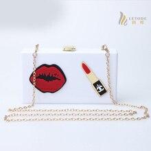 Блеск для губ женские сумки-мессенджеры bolsos акриловые Брендовые женские сумки знаменитые дизайнерские Роскошные клатчи высокого качества сумка на плечо