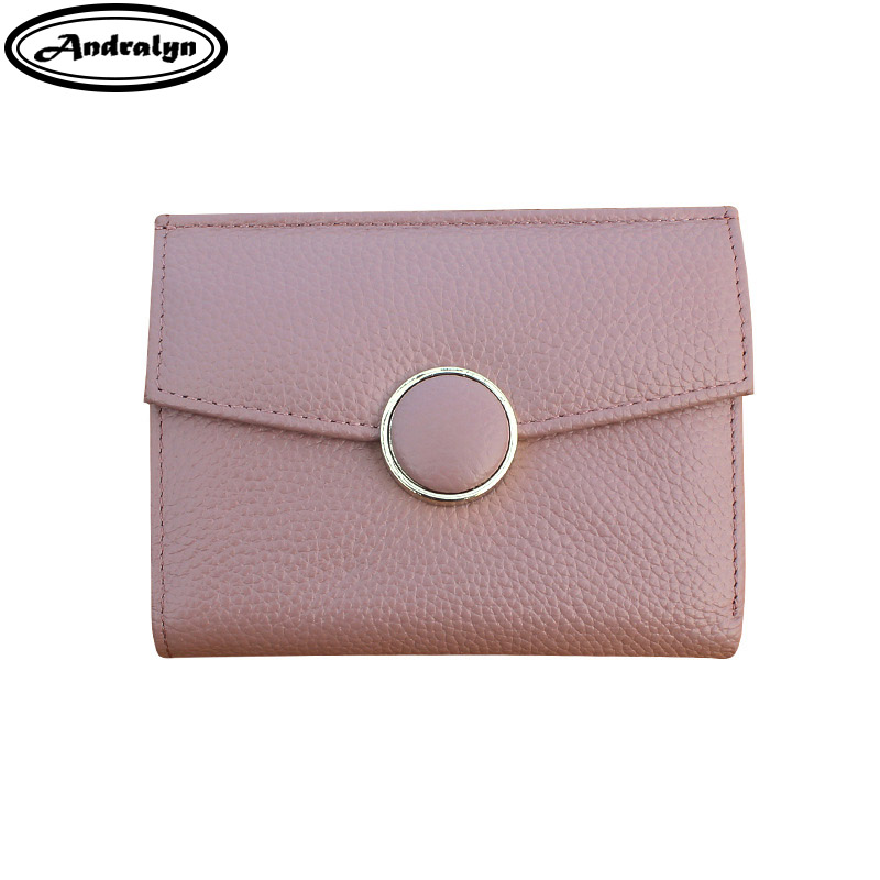 Andralyn ladies small wallets women Fashion Short Money bag genuine leather Hasp Coin Purse credit card Wallet and Purses stock promotion genuine leather wallet female purse long coin purses holder ladies wallet hasp fashion womens wallets and purses