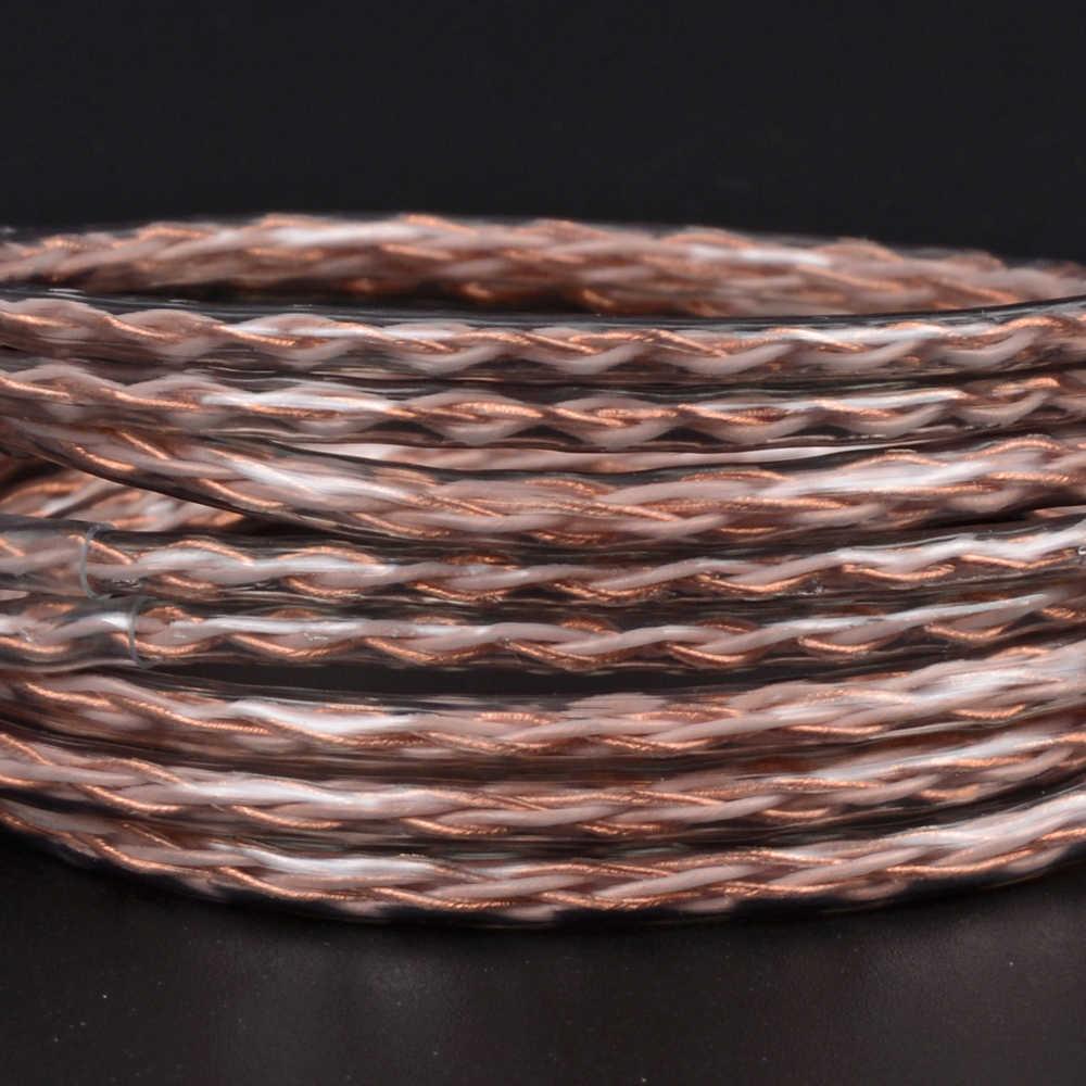 NICEHCK 8 rdzeń czysty kabel miedziany MMCX/2Pin 4.4/3.5/2.5mm zrównoważony dla V90/V80 TFZ KZZSX/ZSN/ZS10CCAC10/C16 NICEHCK F3/NX7/M6