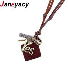 Janeyacy Новые Модные индивидуальные аксессуары мужское ожерелье