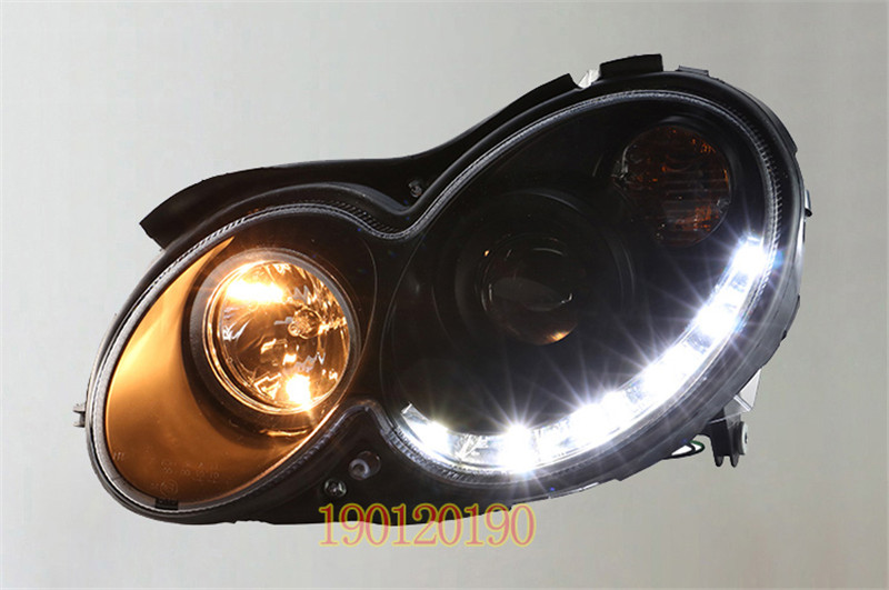 VLAND factory for Car head lamp for CLK LED Headlight 2002-2009 for W209 Head light with xenon HID projector lens and DRL hireno headlamp for 2016 hyundai elantra headlight assembly led drl angel lens double beam hid xenon 2pcs
