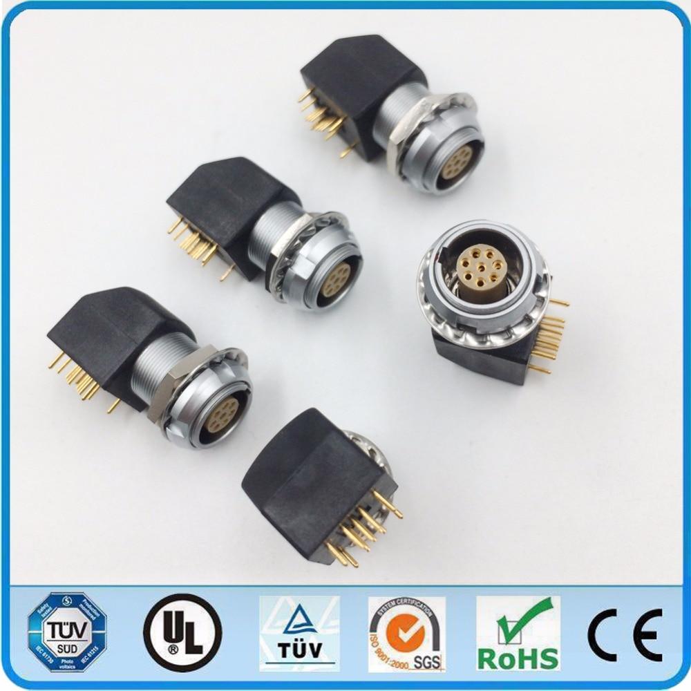 LEMO Metal Circular Connector EXG 1B 8 Pin Two Nuts Socket ...