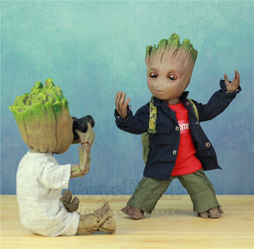 Life Size 1:1 Marvel Guardians of The Galaxy Avengers Cute Baby Young Tree Man BJD 25CM Action Figure KOs HT Hot Toys LegendsLife Size 1:1 Marvel Guardians of The Galaxy Avengers Cute Baby Young Tree Man BJD 25CM Action Figure KOs HT Hot Toys Legends