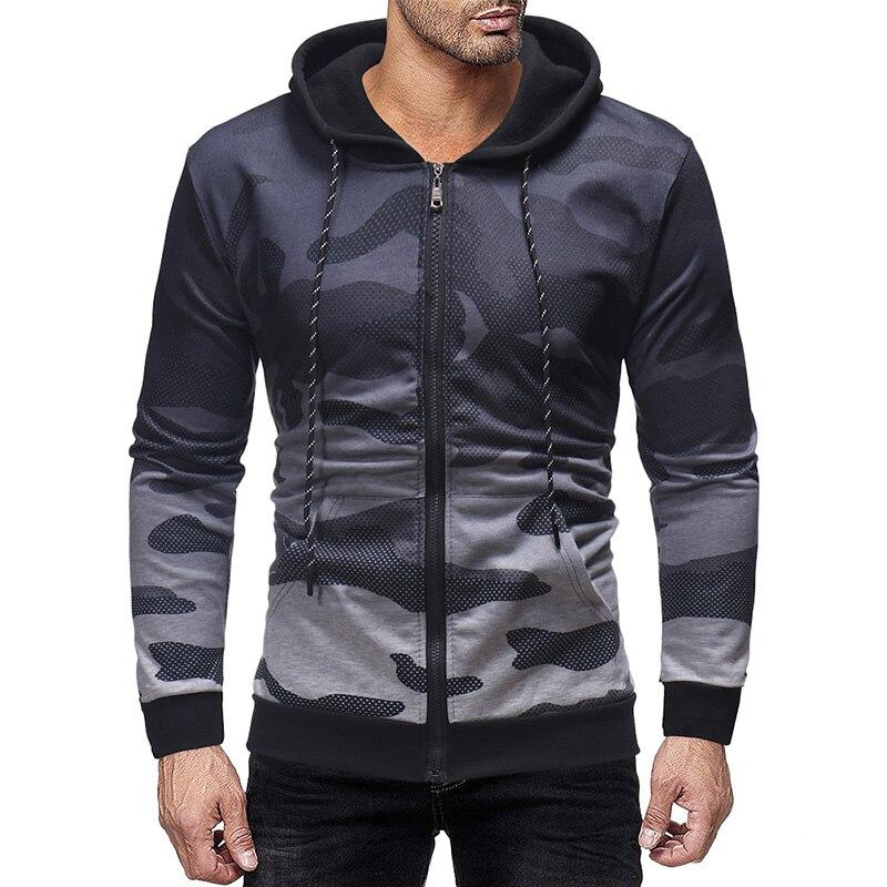MarKyi 2019 new brand camouflage gradient color print mens sweatshirts zipper luxury hoodies men pullover japan