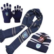 Хэрри Поттер Костюм Косплей серия шарф шарфы сенсорные перчатки шляпа Гриффиндор/Слизерин/хаффлпуф/Ravenclaw детский подарок