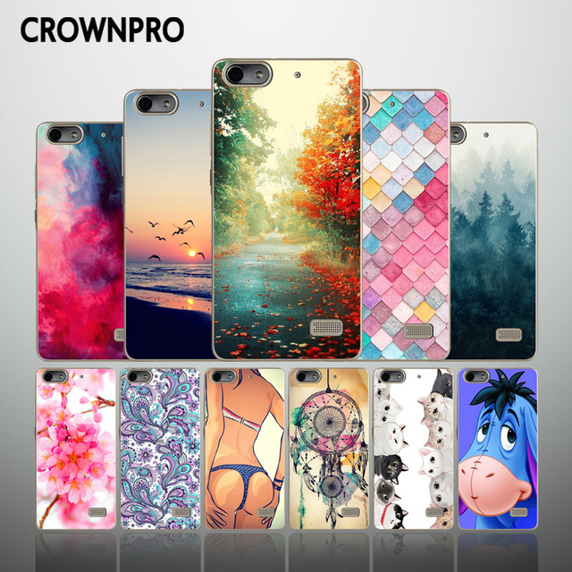 CROWNPRO FOR Huawei Honor 4C CHM-U01 Phone Case Cover Silicone TPU Back FOR Huawei Honor 4C Cover C8818 G Play Mini Soft Case