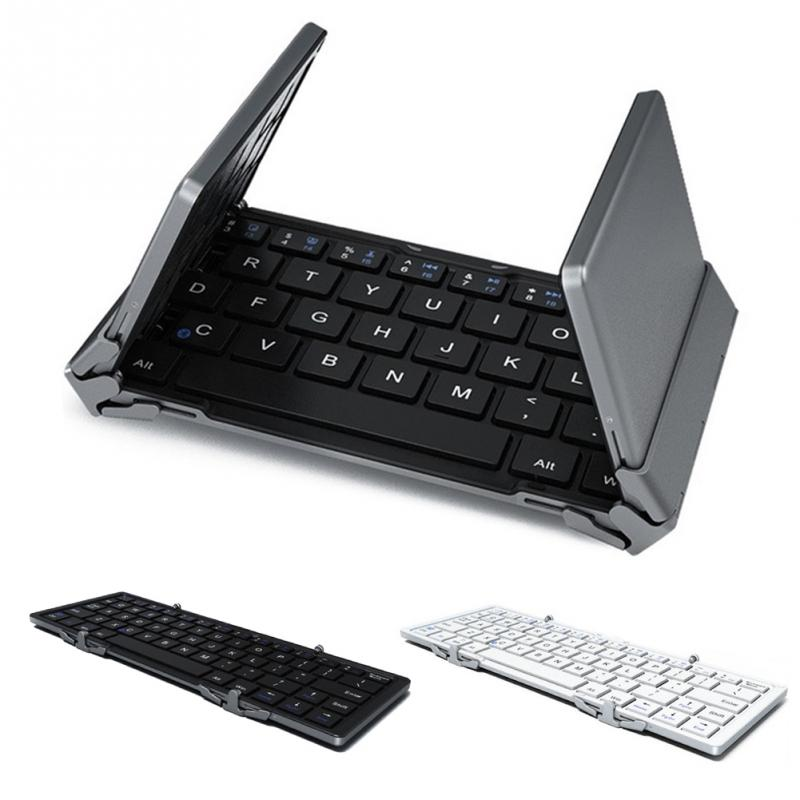 Foldable Bluetooth Keyboard, Portable Bluetooth Keyboard for iOS, Android, Windows, PC, Tablets and Smartphone, Black
