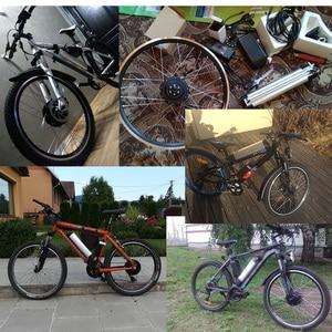 "Image 4 - 20 ""24"" 26 ""700C 27.5"" 29 ""ערכת המרת אופניים חשמליים 36V 250 W  500W גלגל מנוע חשמלי אופני ערכת עם ליתיום סוללה"
