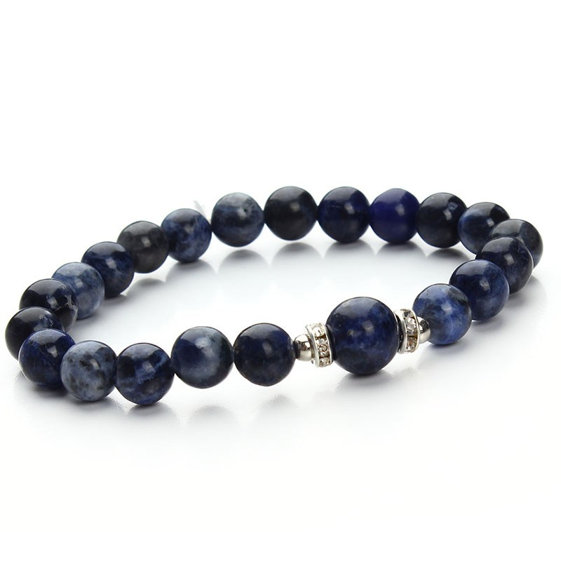 17 New Fashion Blue White Green Blue Stretch Energy Yoga Natural Stone Bracelet for Women & Men Gift Jewelry Pluseras F2853 9