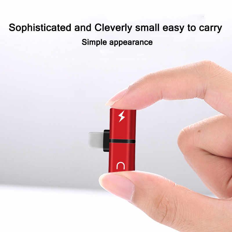 2 で 1 デュアルポートヘッドホンアダプタ充電器アクセサリー 5se ため 7 8 6 s xs 最大 xr 6 s 7 プラス 8 プラスケース coque 電話アクセサリー