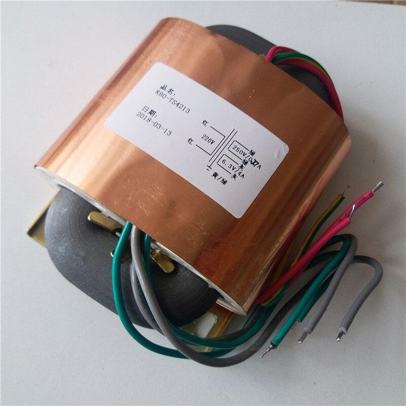 250AC 0.27A + 6,3 V 4A R Core Transformator 100VA R80 benutzerdefinierte transformator 220V eingang mit kupfer schild ausgang für Power verstärker-in Transformatoren aus Heimwerkerbedarf bei AliExpress - 11.11_Doppel-11Tag der Singles 1