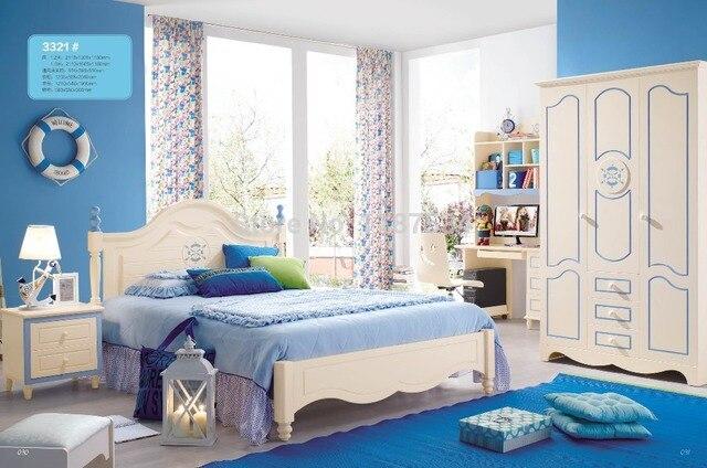 3321 Children bedroom furniture sets children bed three doors ...