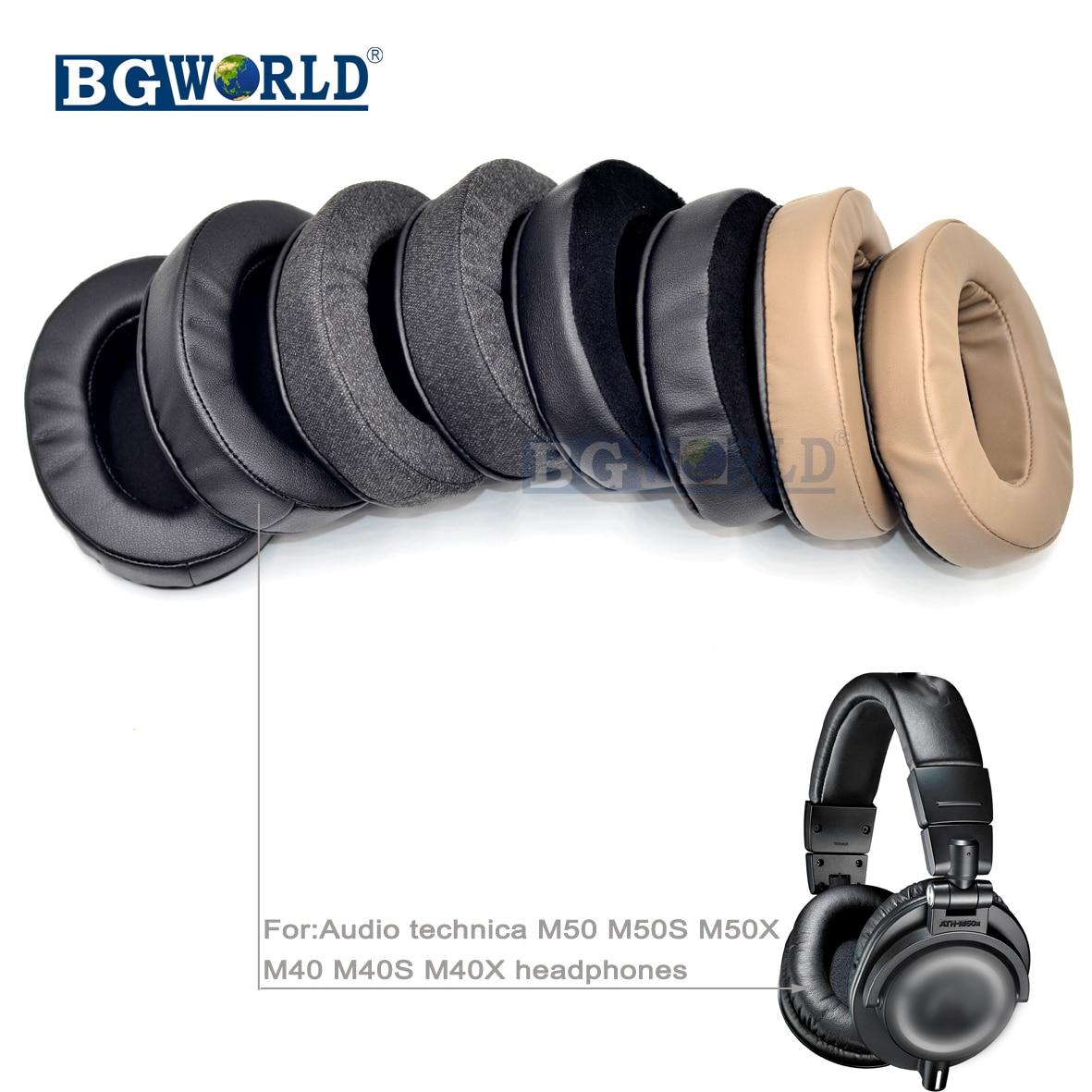 BGWORLD  Ear Pads Earpads Earmuff Cover Cushion For Audio Technica ATH M40 M50 M40X M50X M30 M35 SX1 M50S Dj Headphone Sponge