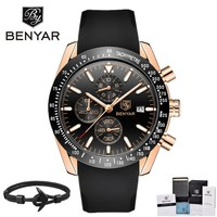 2018 BENYAR Men Watches Brand Luxury Waterproof Sports Quartz Chronograph Military Watch Men Relogio Masculino Zegarek Meski